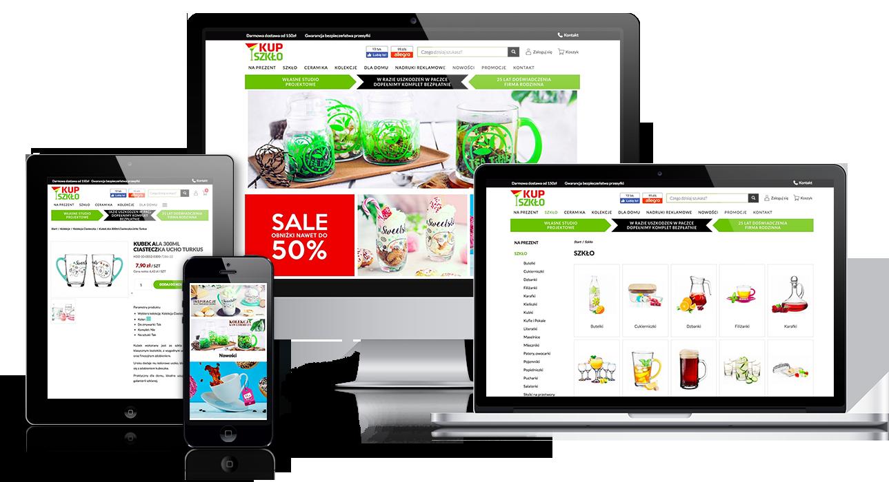 Convertis - Realizacje - Opis realizacji sklepu internetowego – Kupszklo.pl