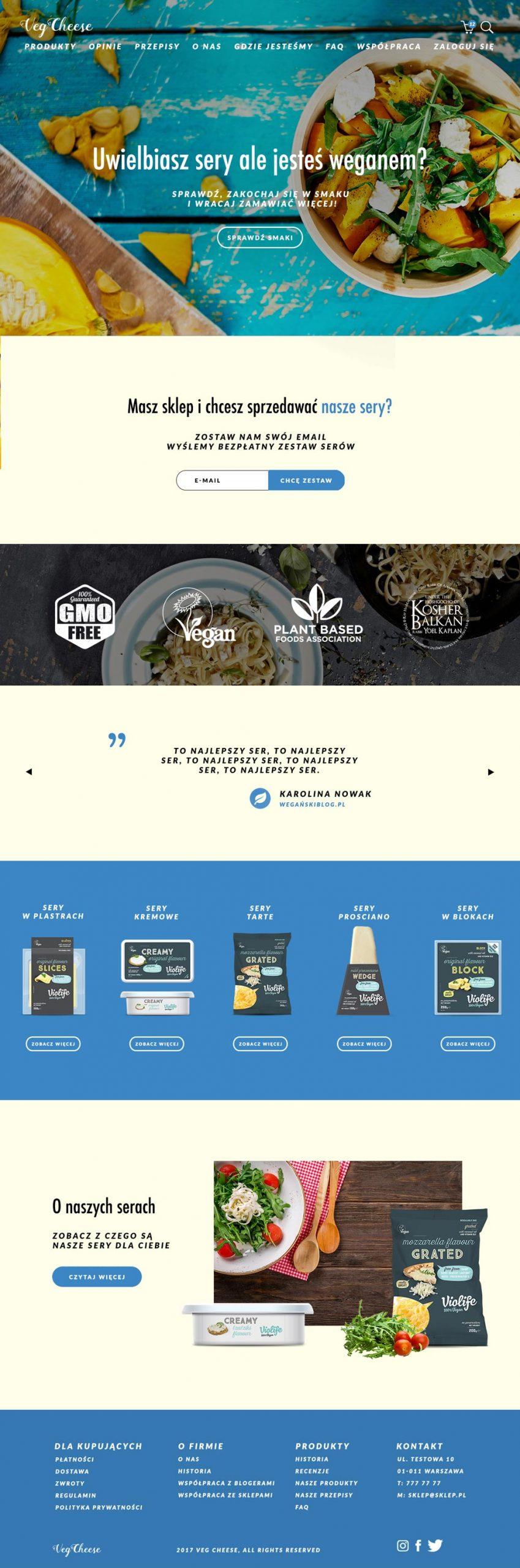 Realizacja sklepu internetowego – VegeSklep.pl