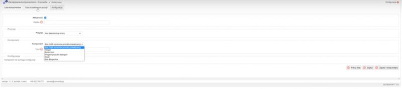 Dodawanie komponentu na podstawie danych udostępnianych przez inne pluginy na stronie