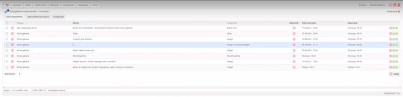 Podłączanie gotowych komponentów z listy pluginów