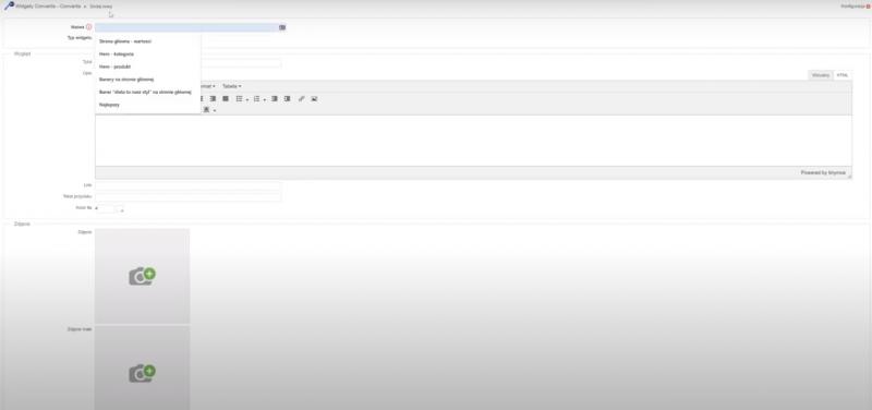 """Dodawanie nowego widgetu w zakładce """"Dodaj widget"""""""